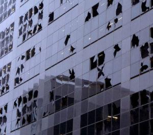 hurricane window damage